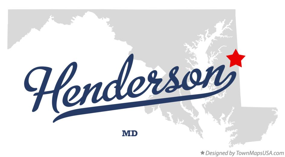 Map of Henderson Maryland MD