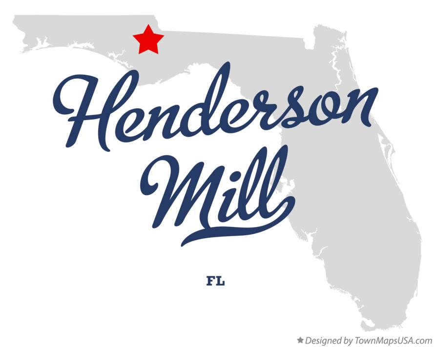 Map of Henderson Mill Florida FL
