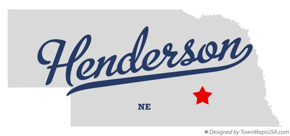 Map of Henderson Nebraska NE