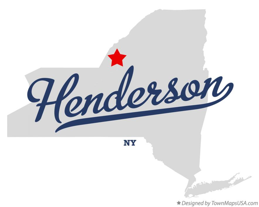 Map of Henderson New York NY
