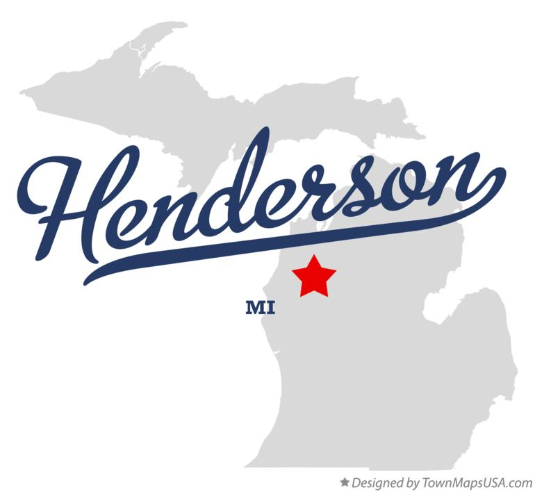 Map of Henderson Michigan MI