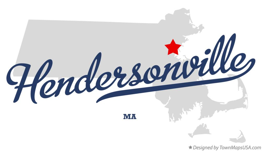 Map of Hendersonville Massachusetts MA