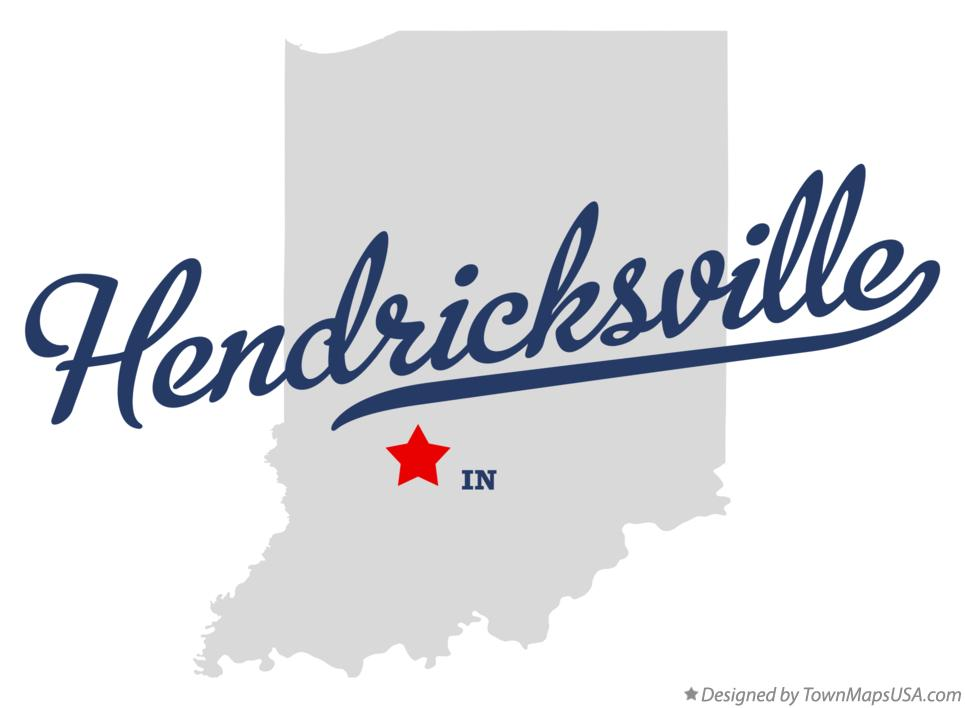 Map of Hendricksville Indiana IN