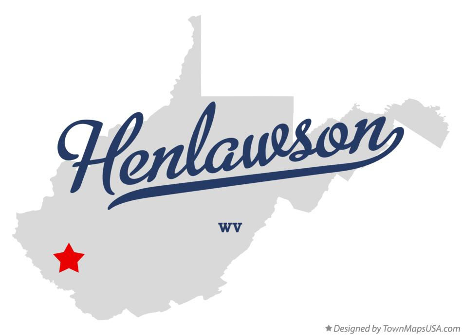 Map of Henlawson West Virginia WV
