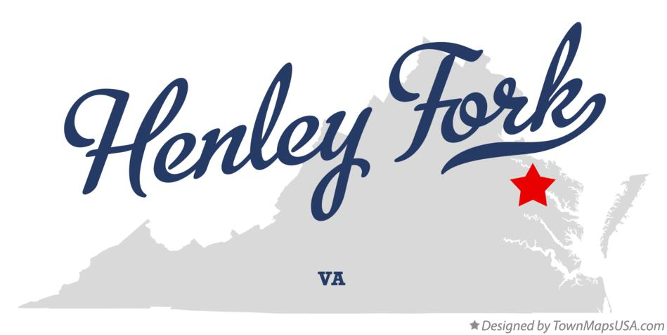 Map of Henley Fork Virginia VA