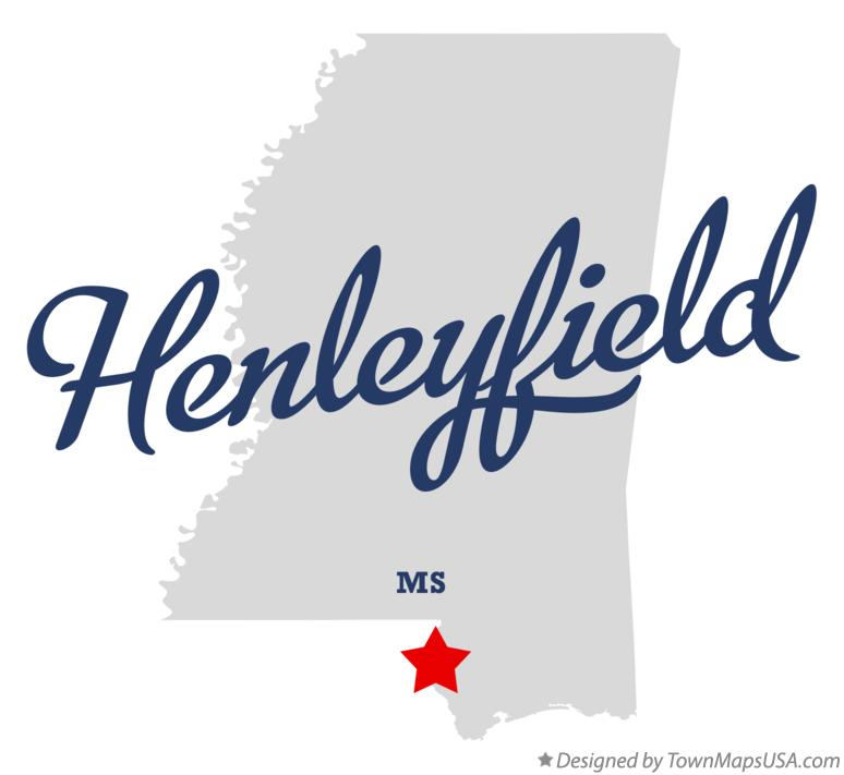 Map of Henleyfield Mississippi MS