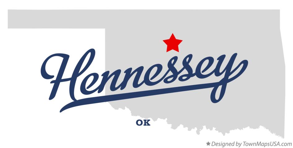 Map of Hennessey Oklahoma OK