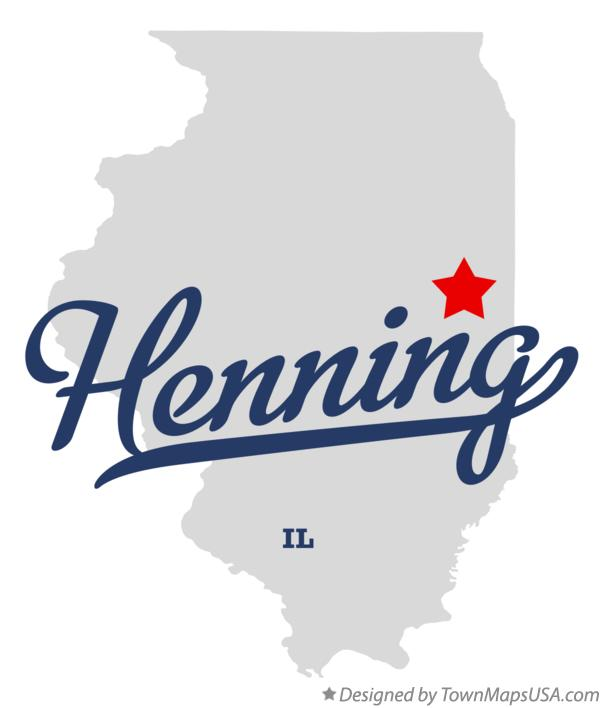 Map of Henning Illinois IL