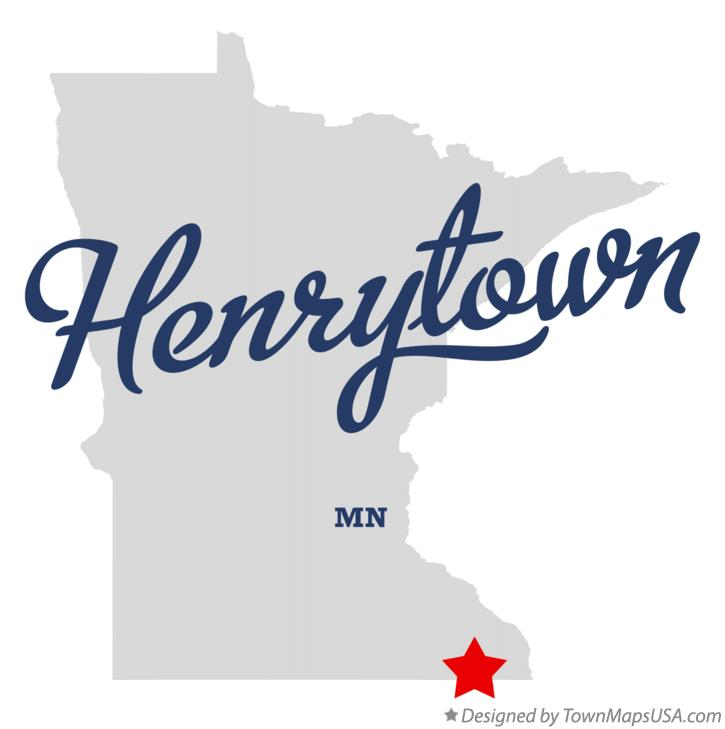 Map of Henrytown Minnesota MN