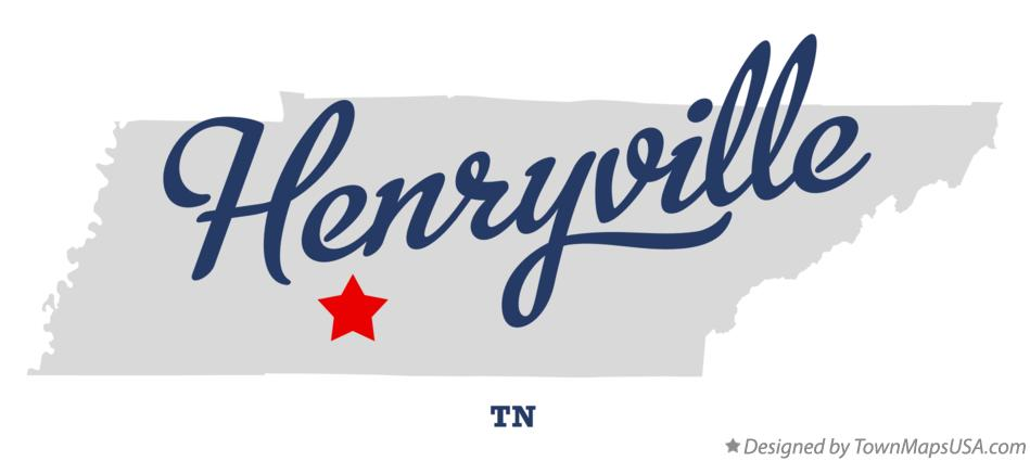 Map of Henryville Tennessee TN