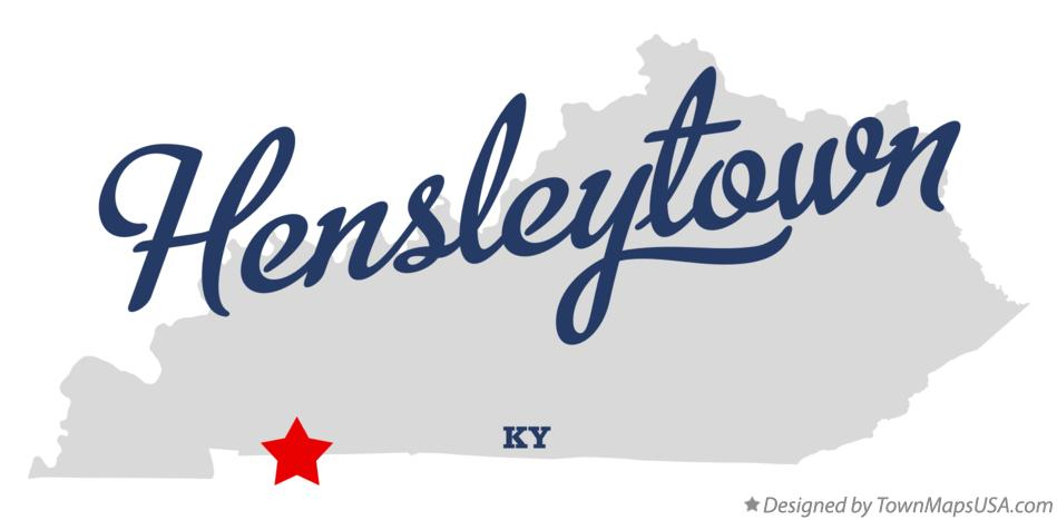 Map of Hensleytown Kentucky KY