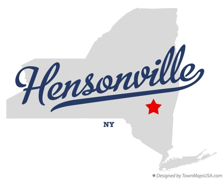 Map of Hensonville New York NY