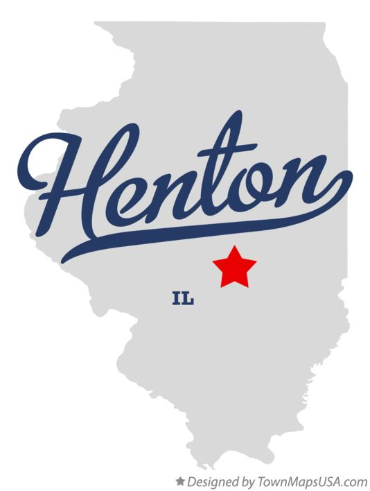 Map of Henton Illinois IL