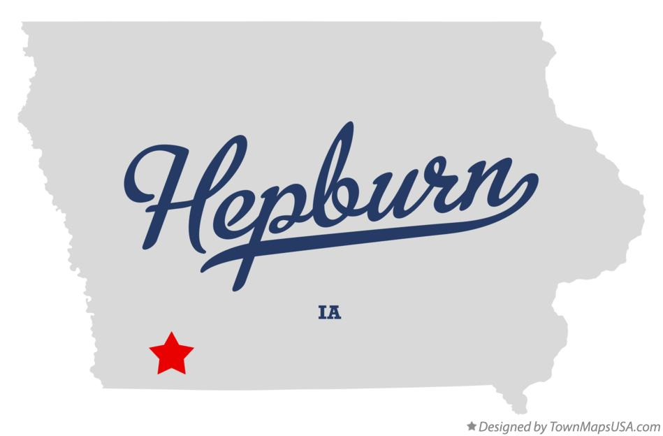 Map of Hepburn Iowa IA