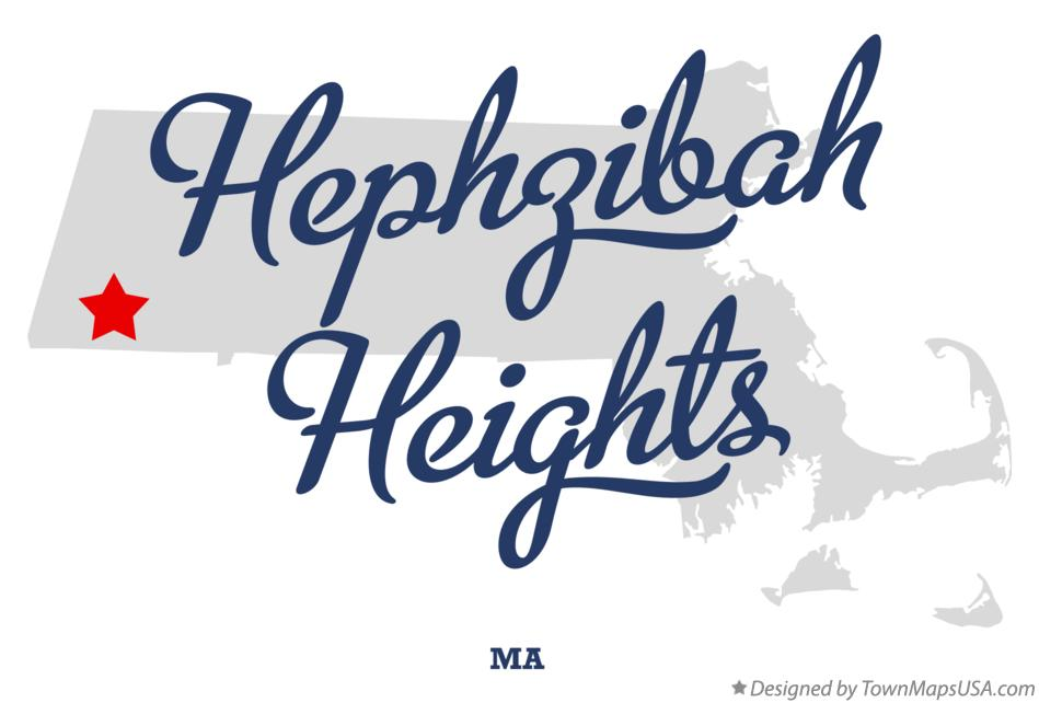 Map of Hephzibah Heights Massachusetts MA