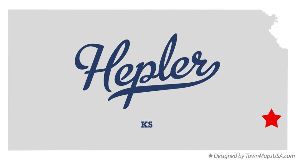 Map of Hepler Kansas KS