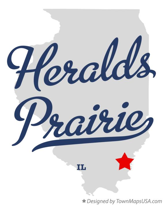 Map of Heralds Prairie Illinois IL