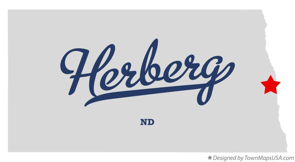Map of Herberg North Dakota ND