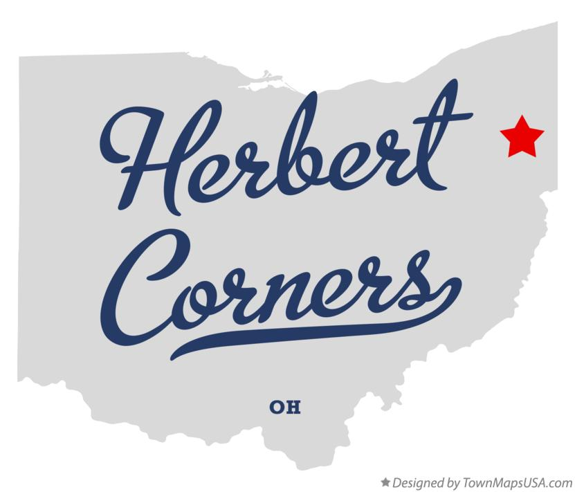 Map of Herbert Corners Ohio OH