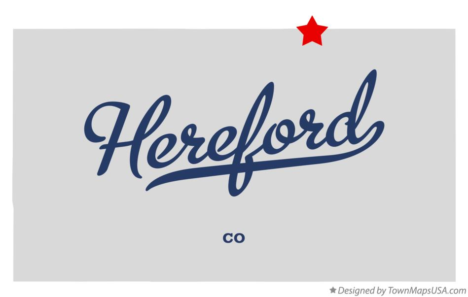 Map of Hereford Colorado CO