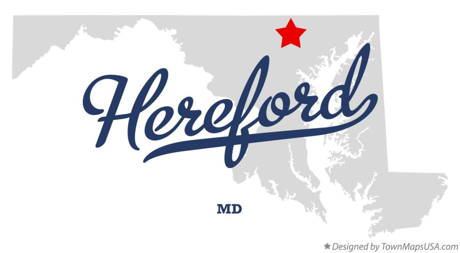 Map of Hereford Maryland MD