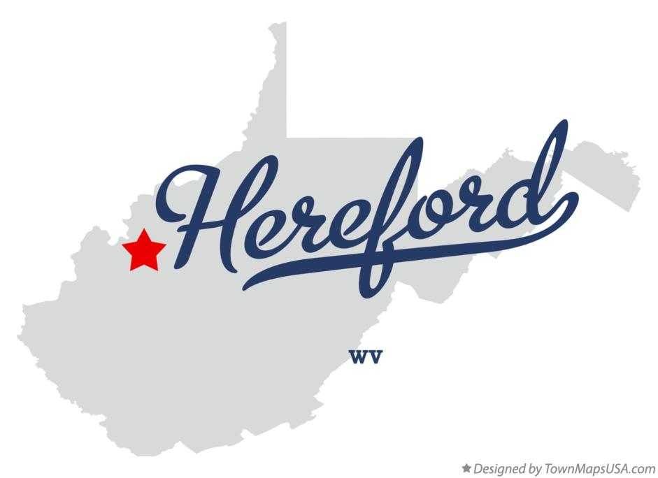 Map of Hereford West Virginia WV