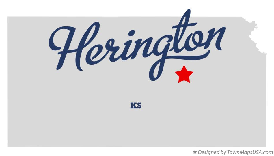 Map of Herington Kansas KS