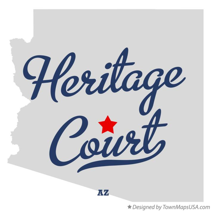 Map of Heritage Court Arizona AZ