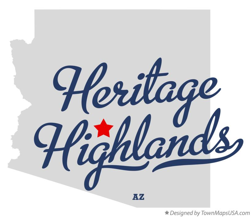 Map of Heritage Highlands Arizona AZ