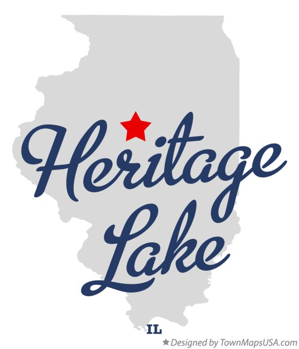 Map of Heritage Lake Illinois IL