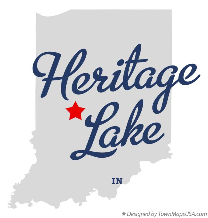 Map of Heritage Lake Indiana IN