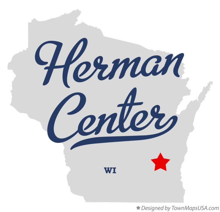 Map of Herman Center Wisconsin WI