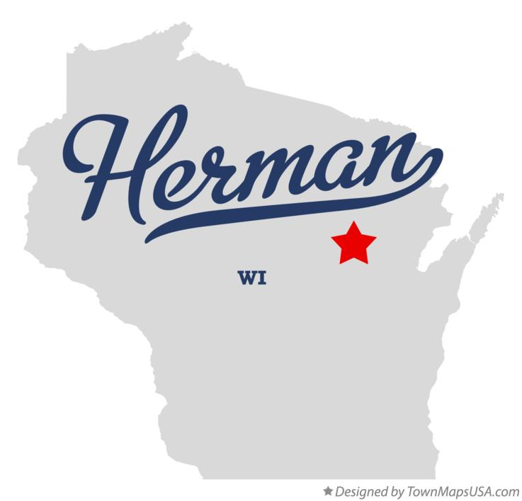 Map of Herman Wisconsin WI