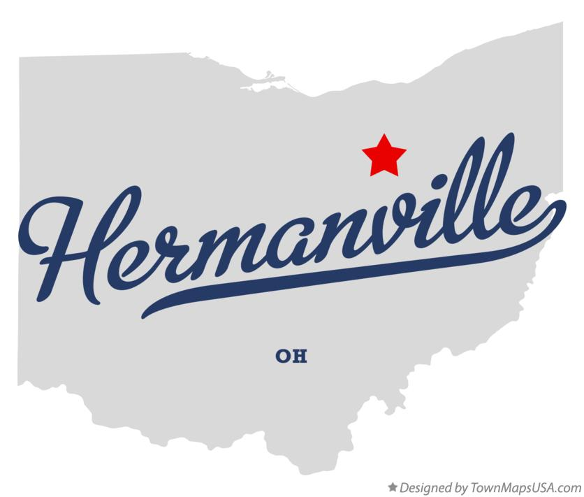 Map of Hermanville Ohio OH