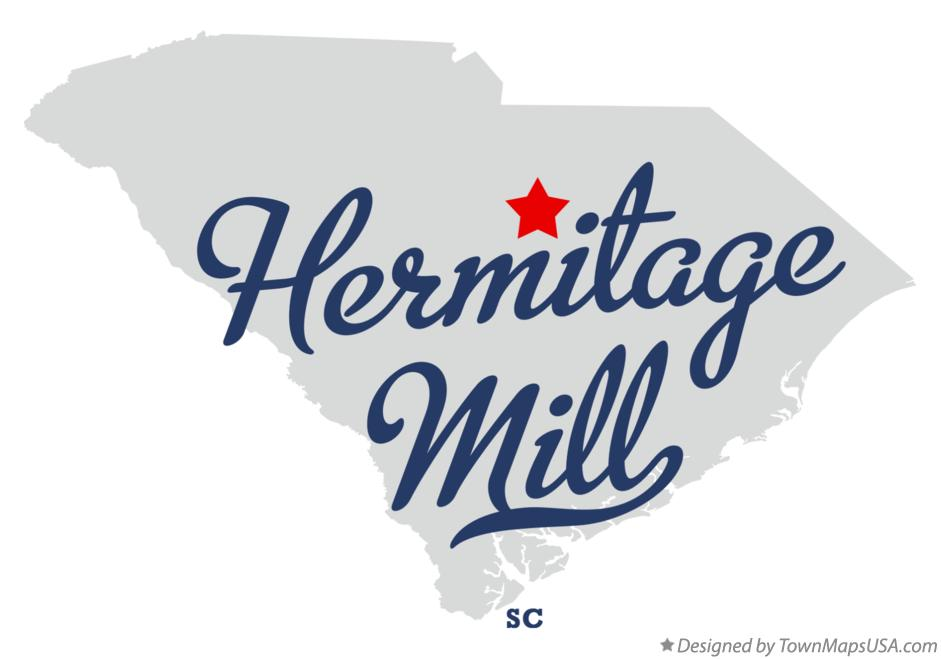 Map of Hermitage Mill South Carolina SC