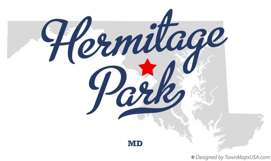 Map of Hermitage Park Maryland MD