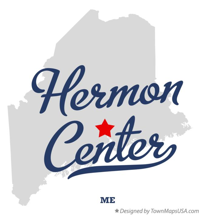 Map of Hermon Center Maine ME