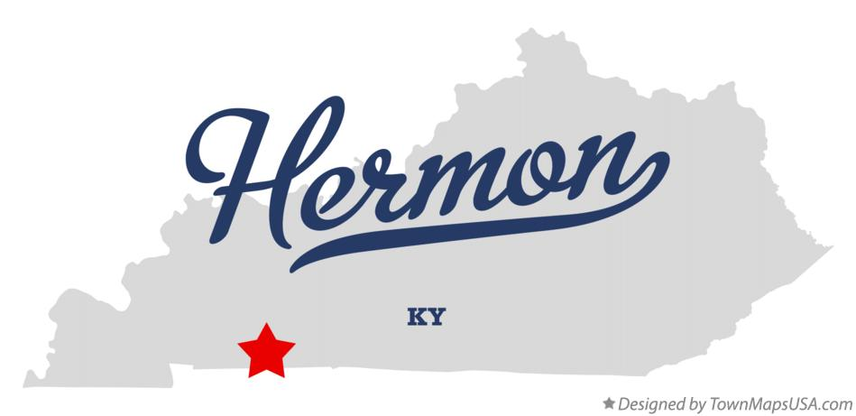 Map of Hermon Kentucky KY