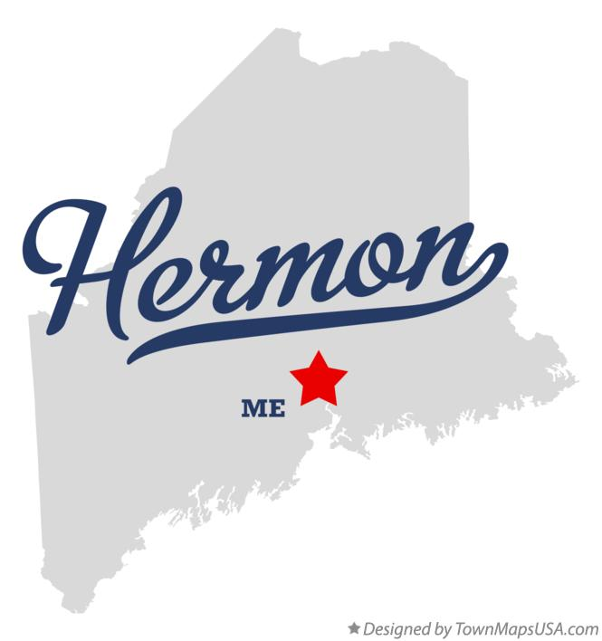 Map of Hermon Maine ME