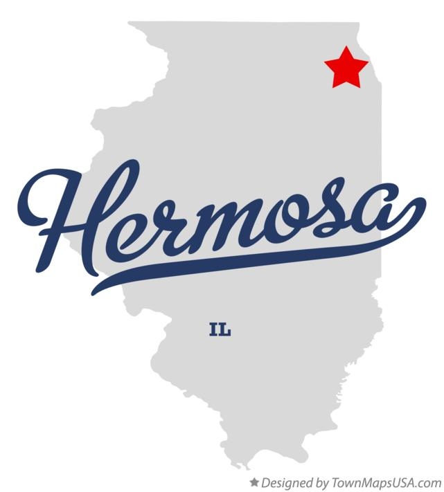 Map of Hermosa Illinois IL