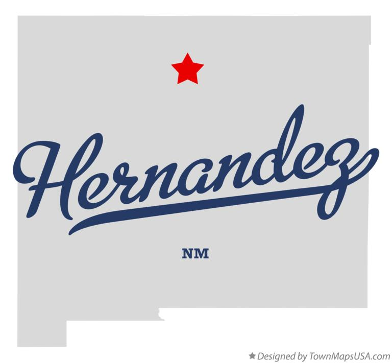 Map of Hernandez New Mexico NM