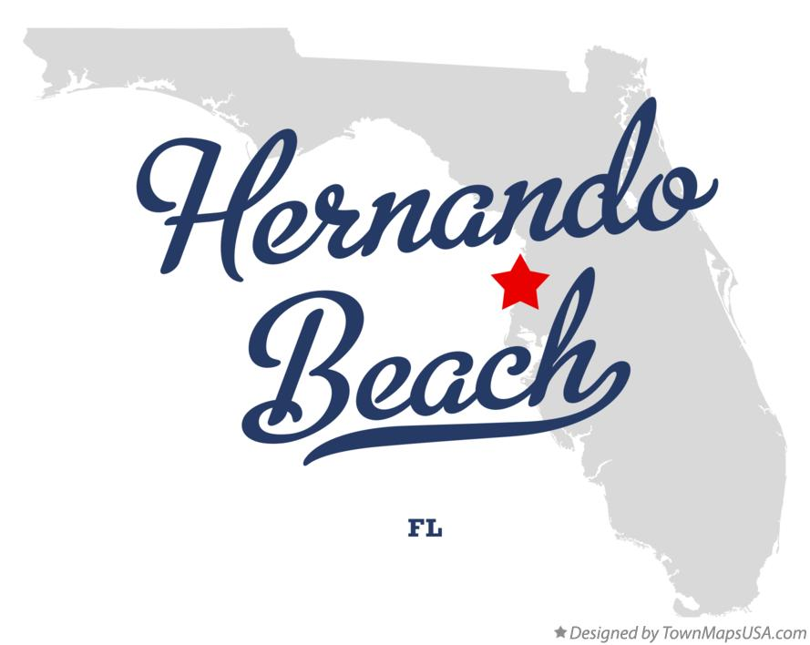 Map of Hernando Beach Florida FL
