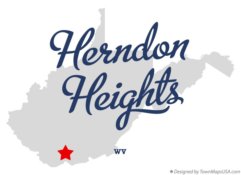 Map of Herndon Heights West Virginia WV