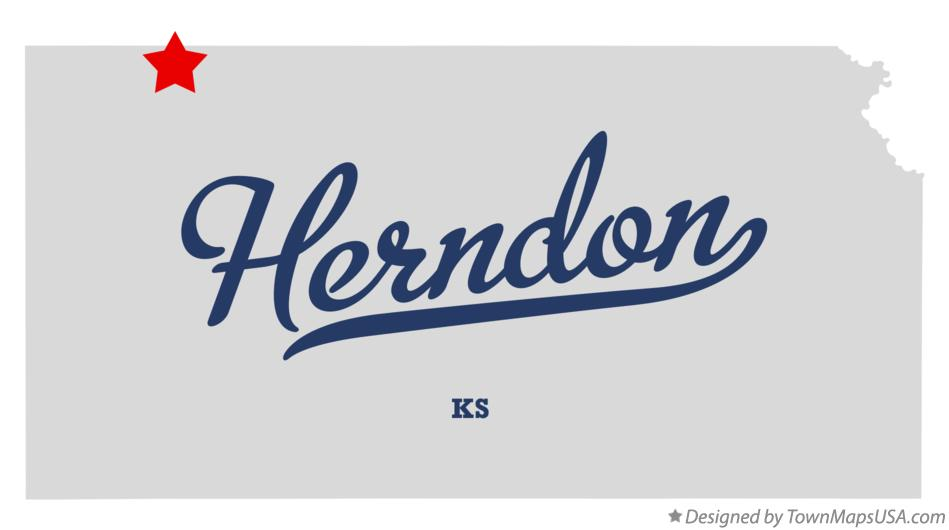 Map of Herndon Kansas KS