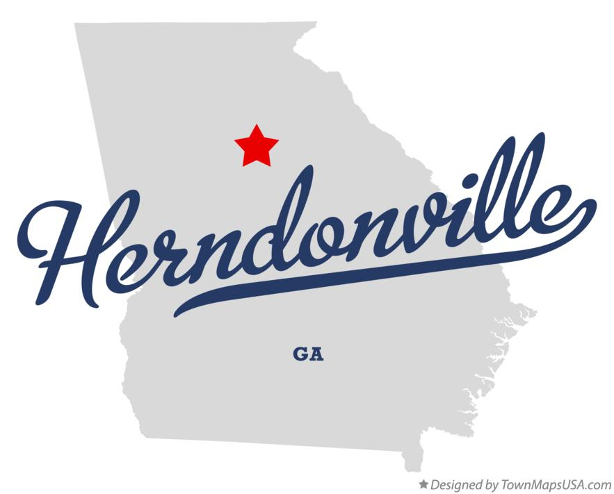Map of Herndonville Georgia GA