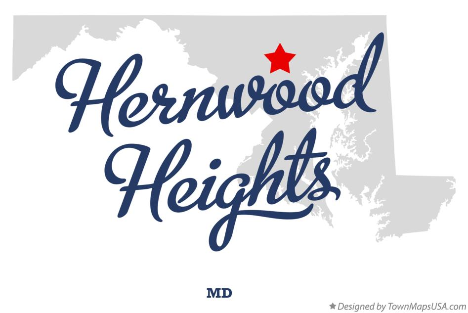 Map of Hernwood Heights Maryland MD
