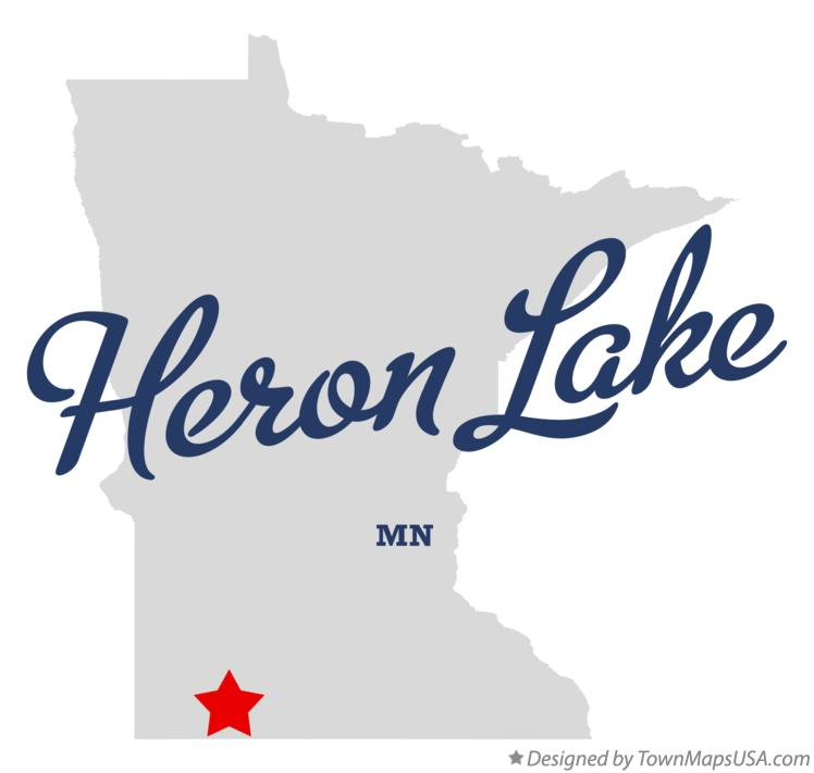 Map of Heron Lake Minnesota MN