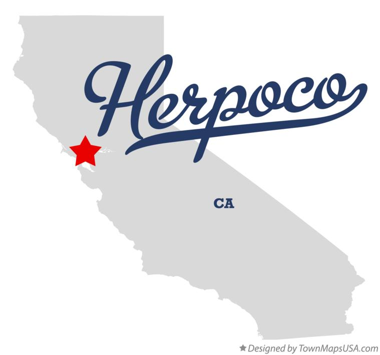 Map of Herpoco California CA