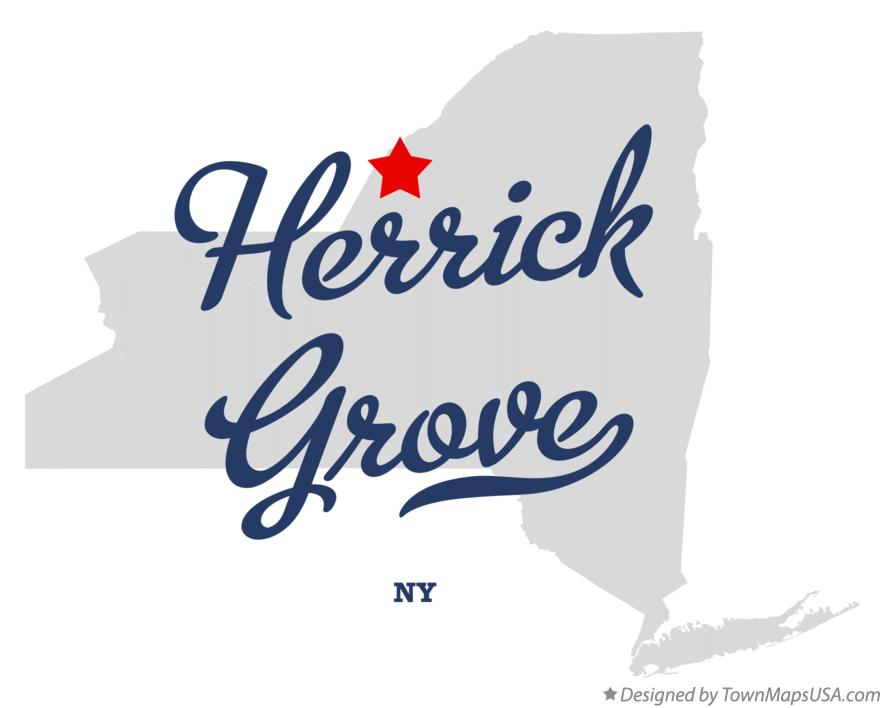 Map of Herrick Grove New York NY