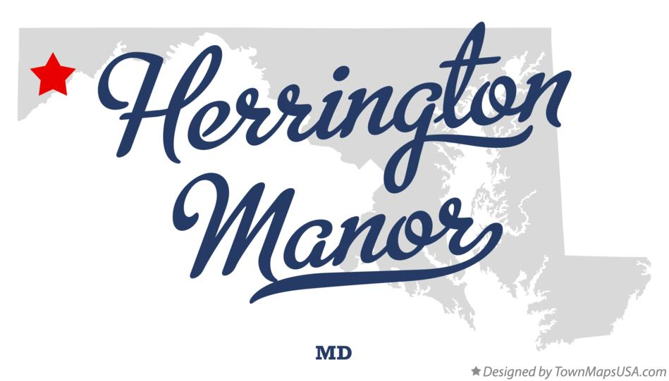 Map of Herrington Manor Maryland MD